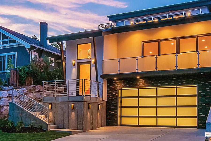 Aluminum Full-View Garage Door