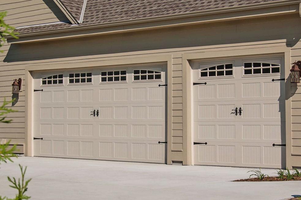 02 Stamped Carriage House Garage Door