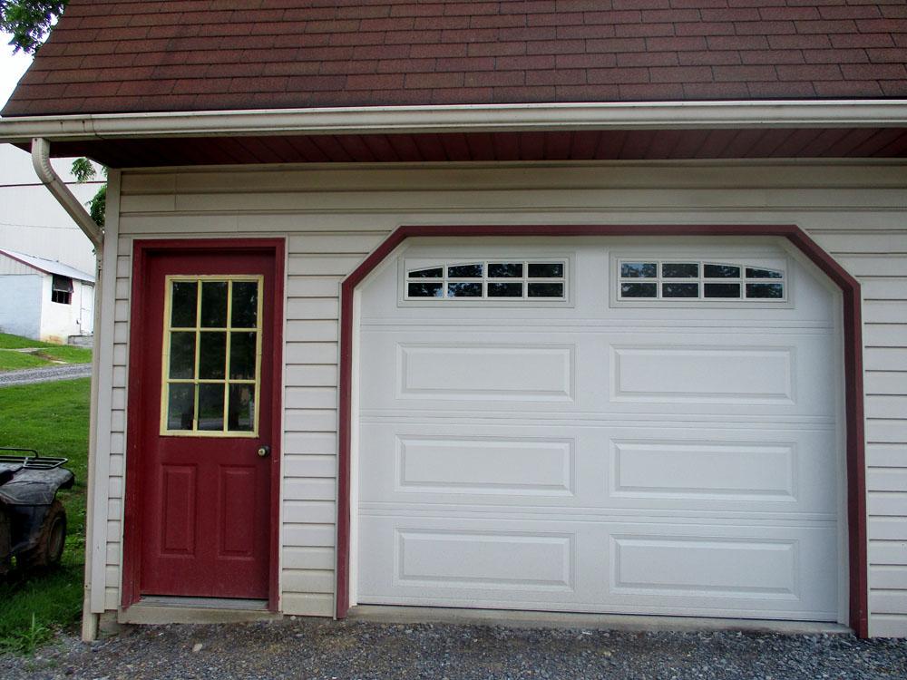 Long Paneled Garage Door