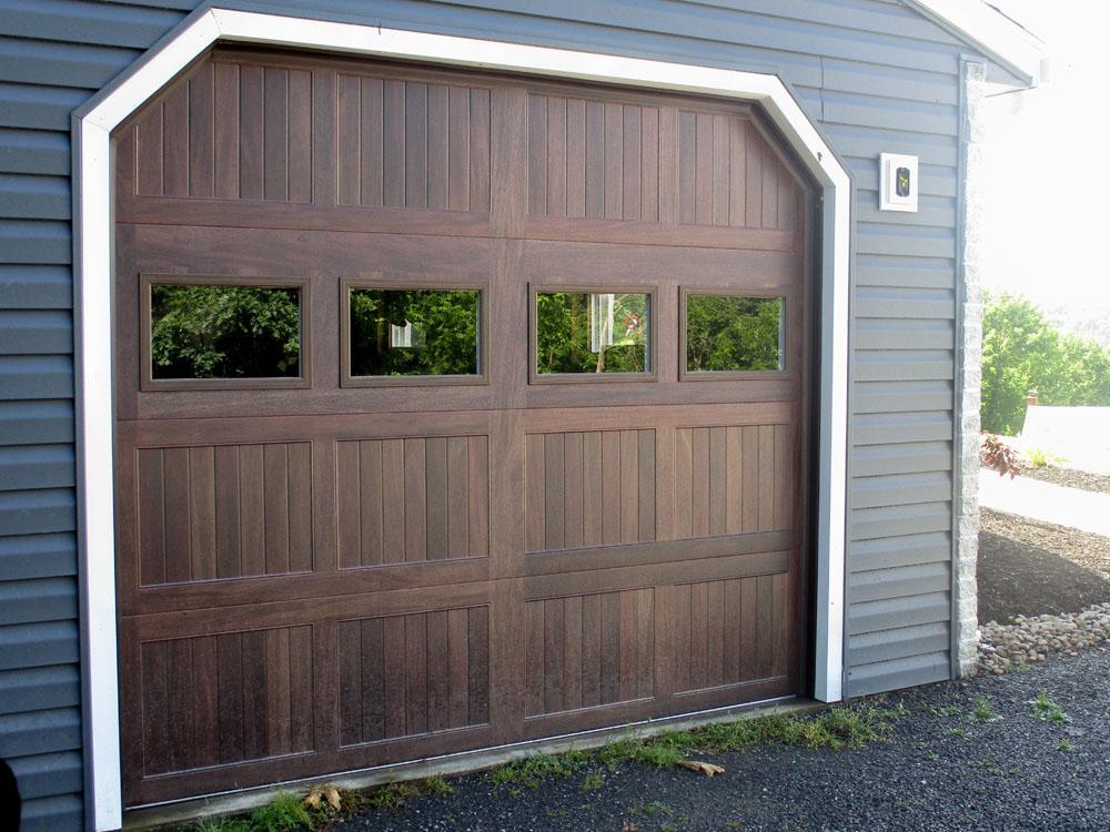 Dark Oak Stamped Steel Garage Door
