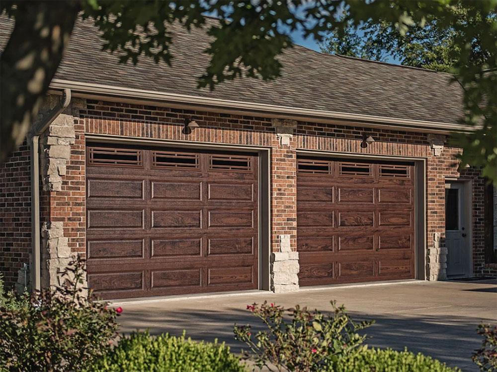 CHI Accent Walnut Woodtone Garage Door
